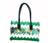 Ecological bag (Recycled magazine) Green