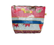 Green Red and Blue Cosmetic bag embrace