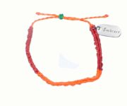 embrace friendship orange and red bracelet